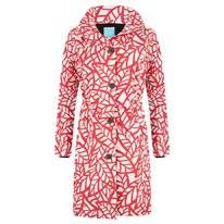 Regenjas Happy Rainy Days Coat Reva Leaf Off White Red