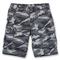 Werkshorts Carhartt Men Rugged Cargo Camo Short Rugged Gray Camo