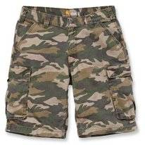 Werkshorts Carhartt Men Rugged Cargo Camo Short Rugged Khaki Camo