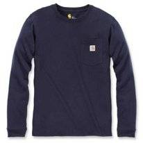 Longsleeve Carhartt Workwear Pocket L/S T-Shirt Navy Damen