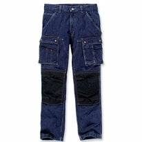 Werkbroek Carhartt Men Denim Multi Pocket Tech Pant Rinsed Indigo