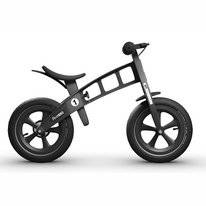 Loopfiets FirstBike Limited Edition Black With Brake