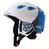 Skihelm Alpina Grap 2.0 Kids White Silver Blue