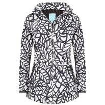Regenjas Happy Rainy Days Jacket Bora Leaf Off White Black