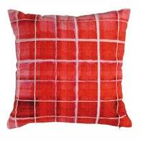 Coussin KAAT Amsterdam Rasterize Rouge (43 x 43 cm)