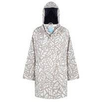 Poncho Happy Rainy Days Cape Calinda Leaf Off White Clay