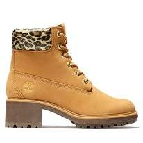 Timberland Women Kinsley 6 Inch WP Boot Wheat Nubuck/Leopord