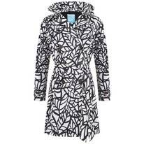 Regenjas Happy Rainy Days Trenchcoat Bora Leaf Off White Black