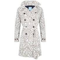 Raincoat Happy Rainy Days Trenchcoat Calinda Leaf Off White Clay