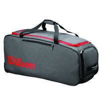 Tennistas Wilson Traveler Wheeled Coach Duffel Grey Red