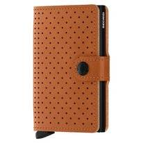 Portemonnee Secrid Miniwallet Perforated Cognac
