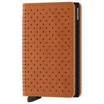 Portemonnee Secrid Slimwallet Perforated Cognac