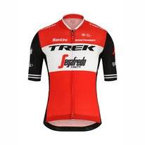 Fietsshirt Santini Men Trek-Segafredo Blend Shortsleeve Full Zip Jersey Red