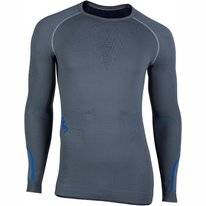 Undershirt UYN Men Ambityon Long Sleeves Medium Grey Blue Royal Blue