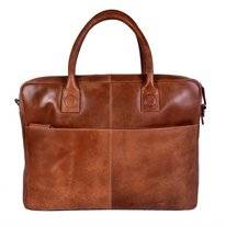 Laptoptas DSTRCT Fletcher Street Business 15,6 inch Mike Cognac