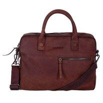 Sacoche Ordinateur Portable DSTRCT Wall Street 15,4 inch Double Bravo Brown