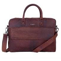 Laptoptas DSTRCT Wall Street 17 inch Delta Brown