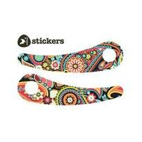 Sticker Wishbone Recycled Paisley