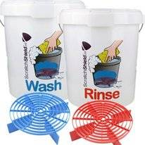 Buckets Wash & Rinse ScratchShield + 2x Guard