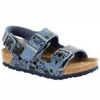 Sandals Birkenstock Kids Milano Narrow Colour Sprays Blue