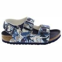 Sandals Birkenstock Kids Milano BF Narrow Dino Camo Blue