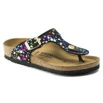 Flip Flops Birkenstock Girls Gizeh Confetti Black Narrow
