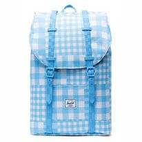 Rugzak Herschel Supply Co. Retreat Mid-Volume Gingham Alaskan Blue