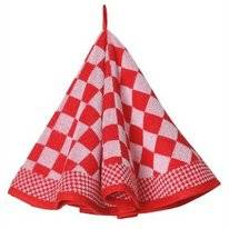 Keukendoek Elias Pompdoek Round Red (set van 2)