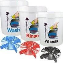 Buckets Wash, Rinse & Wheels ScratchShield + 3x Guard