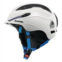 Skihelm Alpina Snow Tour Earpad White-Blue Matt