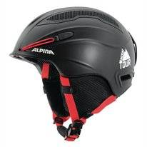 Skihelm Alpina Snow Tour Earpad Black-Red Matt