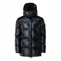Veste RAINS Puffer Hooded Coat Shiny Black