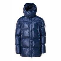 Veste RAINS Puffer Hooded Coat Shiny Blue