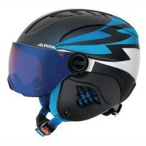 Skihelm Alpina Junior Carat LE Visor HM Nightblue-Denim Matt