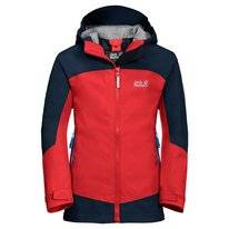 Jas Jack Wolfskin Kids Akka Peak Red Blue