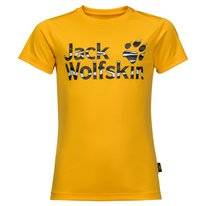T-Shirt Jack Wolfskin Kids Jungle Burly Yellow XT
