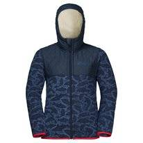 Jas Jack Wolfskin Kids Nordic Hooded Night Blue All Over
