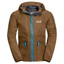 Jas Jack Wolfskin Boys Hidden Falls Bark Brown
