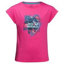 T-Shirt Jack Wolfskin Girls Tropical Pink Peony