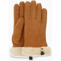 Handschoen UGG Women Shorty Glove W/ Leather Trim Chestnut