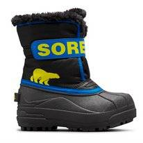 Bottes Sorel Childrens Snow Commander Black Super