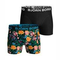 Boxershort Björn Borg Men Core Shorts Sammy BB Strong Flower Black Beauty (2 pack)