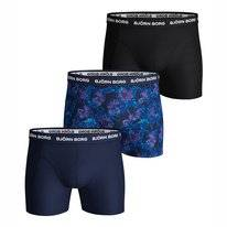 Boxershort Björn Borg Men Essential Shorts Sammy BB Flower Peacoat (3 pack)