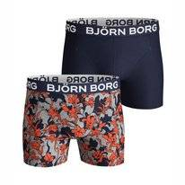 Boxershort Björn Borg Men Core Sammy Vintage Flower Light Grey Melange (2 pack)