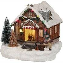 Luville Decorative Wooden House Battery Operated