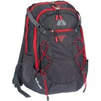 Rugzak Abbey Sphere 35L Antraciet Donkergrijs Rood