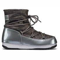 Moon Boot Low Lurex Grey Silver