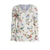 Top Pip Studio Trice Birdy LS Off White Damen