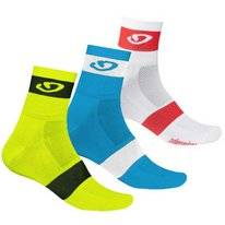 Fietssok Giro Comp Racer 3 Pack Bright Red Blue Charcoal