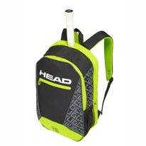 Tennisrugzak HEAD Core Backpack Black Neon Yellow